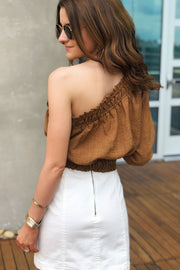 Spice Up Your Life One Shoulder Top