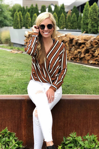 James Striped Blouse