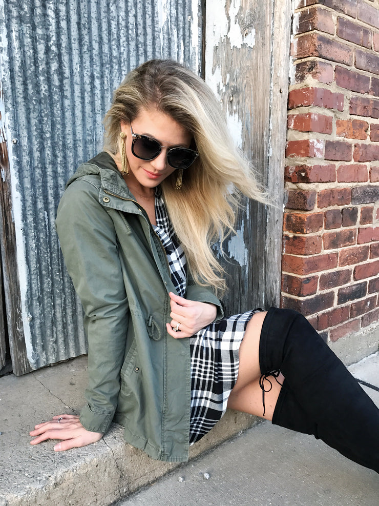 Miranda Hunter Green Cargo Jacket