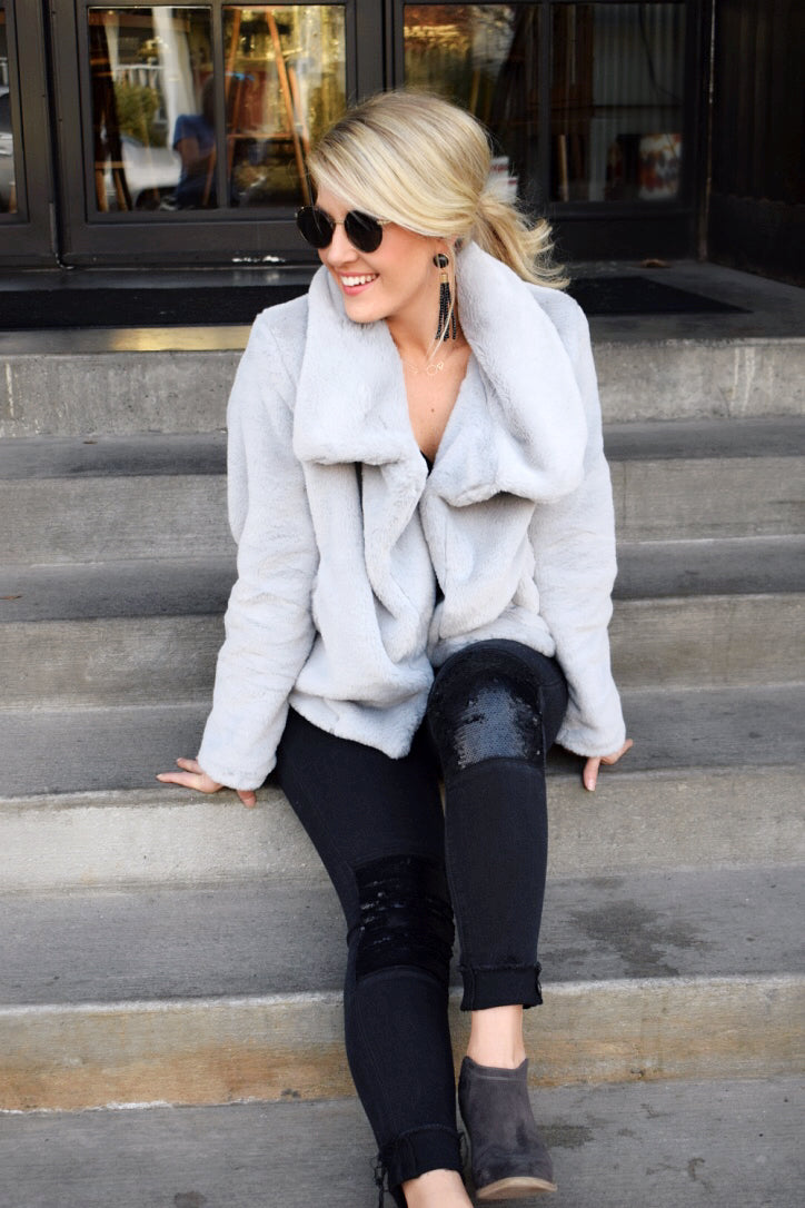 Nights In Vail Faux Fur Jacket