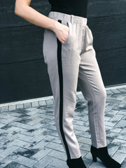 Only Good Vibes Contrast Side Stripe Pants