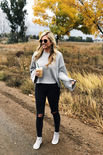 Autumn Skies Grey Sweater