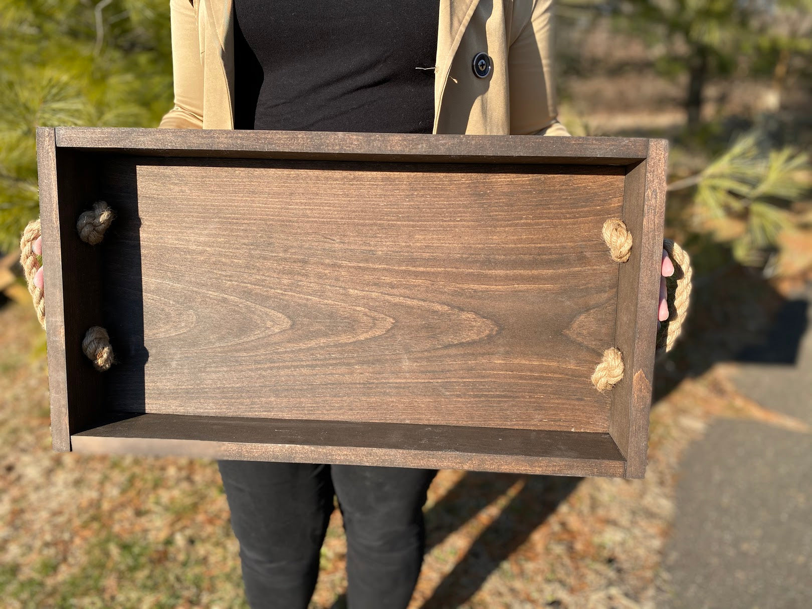 Tray with rope handles YOU DESIGN