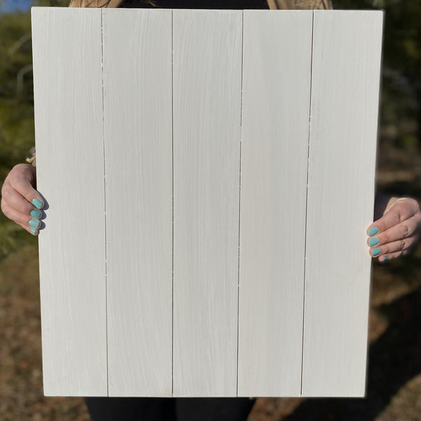 White 17x20 rectangle