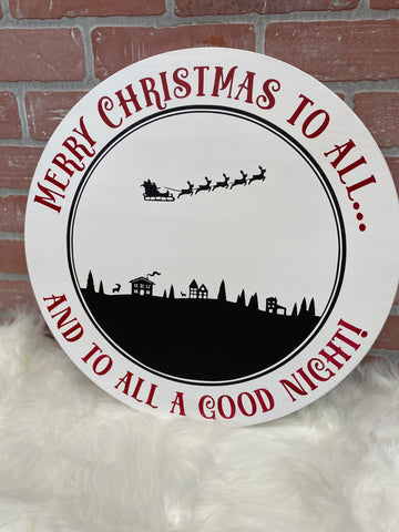 Merry Christmas to All Round Sign
