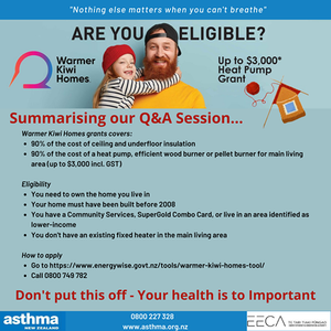 The Q&A with the EECA Warmer Kiwi Homes Team - summary