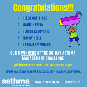 Winners of the 30-day Asthma Management Challenge