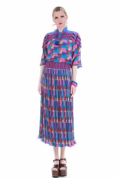 diane-freis-georgette-colorful-vintage-dress