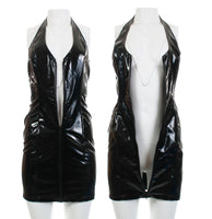 90s Vintage Patent Vegan Leather Dress by Sin-Sations Arizona Made in the USA