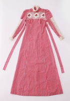 70s Vintage Gingham Prairie Dress