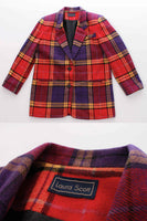 80's Plaid Blazer Jacket Women's Size Medium