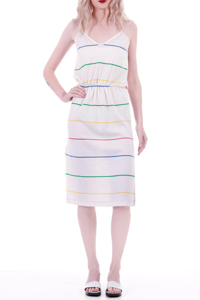 "Vintage Striped Knit Dress Made in the USA Women's Size XS-Small 21-27"" Waist"
