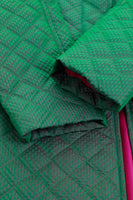 Iridescent Green Pink Quilted Jacket Made in the USA nwot