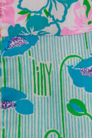 1960s Lilly Pulitzer The Lilly Patchwork Cotton Midi Skirt