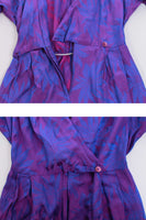 80s Iridescent Purple Jumpsuit Made in the USA