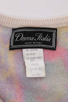 Vintage Pastel Snakeskin Angora Knit Sweater Made in Italy