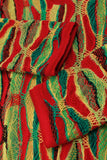 Vintage Coogi Australia Colorful Textured Sweater Dress