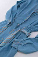 Vintage Denim Shirt Dress Womens Size Medium
