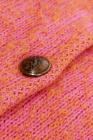50s Loop Knit Pink Orange Cardigan Sweater Women's Size Small