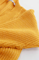80s Yellow Lurex Glitter Knit Metallic Slouchy Pullover Sweater Top Womens Size S