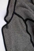 Vintage 60s Houndstooth Wool Cape Coat - Black and White - Reversible Heavy Winter Cloak - OSFA