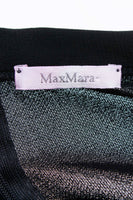 "Y2K MAX MARA Crepe Black Wide Leg High Waist Pants Women's Size Medium / 8 / 30"" waist / 46"" hips / 11.5"" rise / 34"" inseam / 45.5"" long"