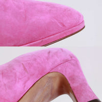 80s NORDSTROM Pink Suede Pumps Butter Soft Leather Made in Italy Women's Size US 7.5 / UK 5.5 / Eur 38