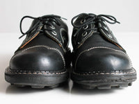Vtg ANGELS by John FLUEVOG Black Chunky Leather Oxford Shoes Women's Size u.k. 4 - u.s.a. 6 - 6.5