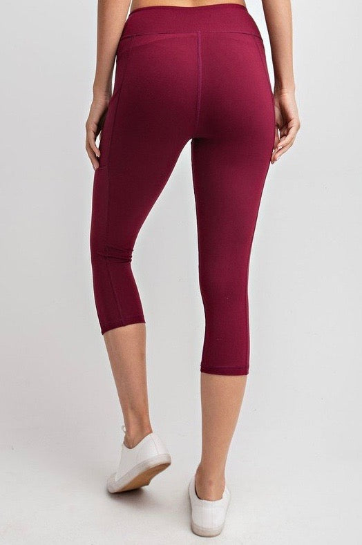 THE BUTTER ROCKS CROP - BURGUNDY