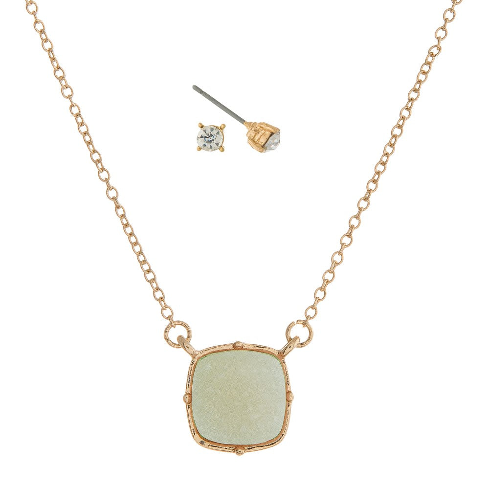 THE ITS A DRUZY - NECKLACE (MINT)