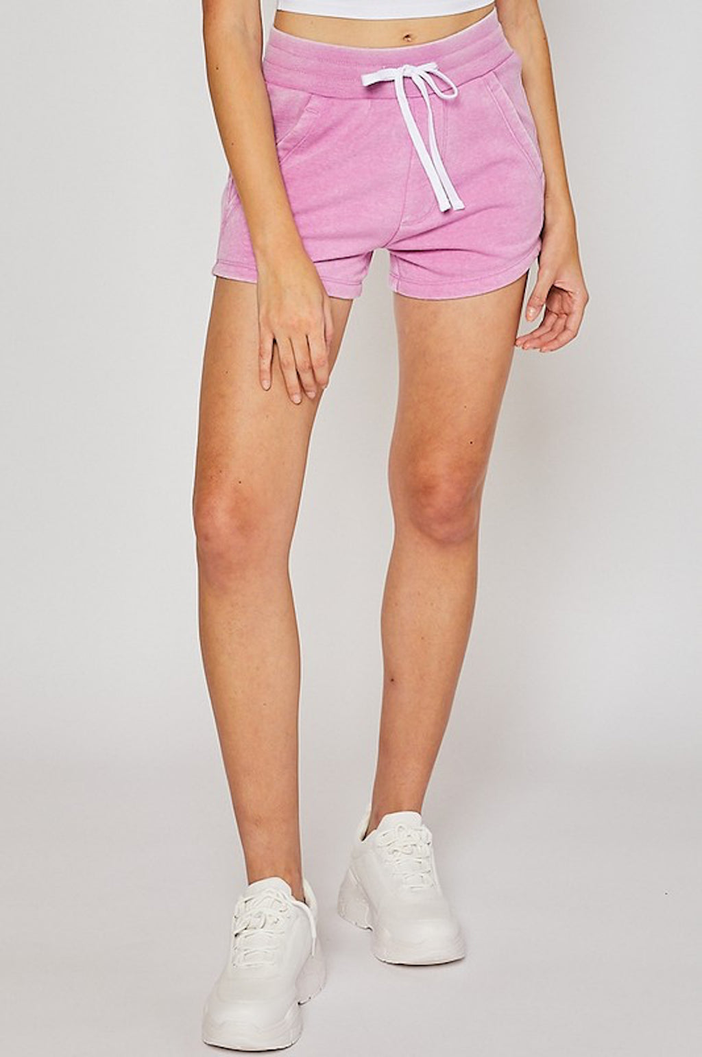THE DENIM DELIGHT SHORTS - ORCHID
