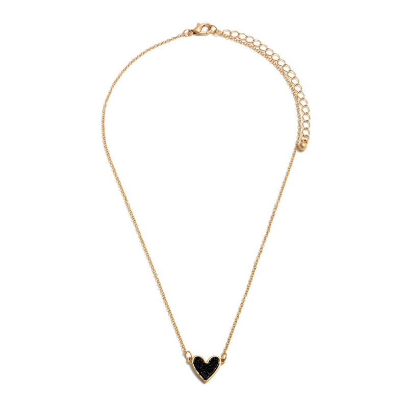 THE DRUZY HEART - BLACK