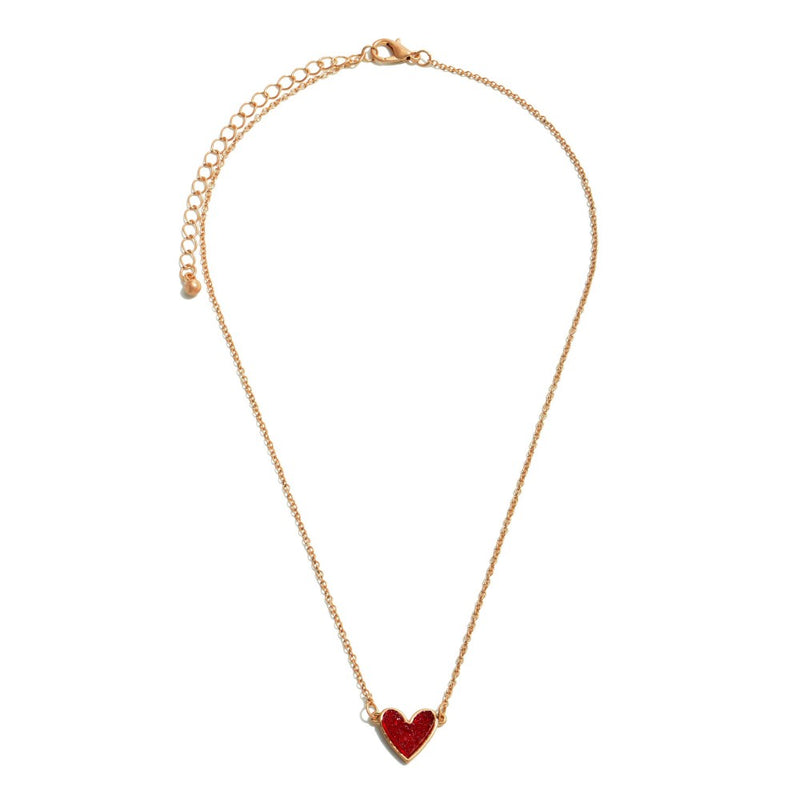 THE DRUZY HEART - RED