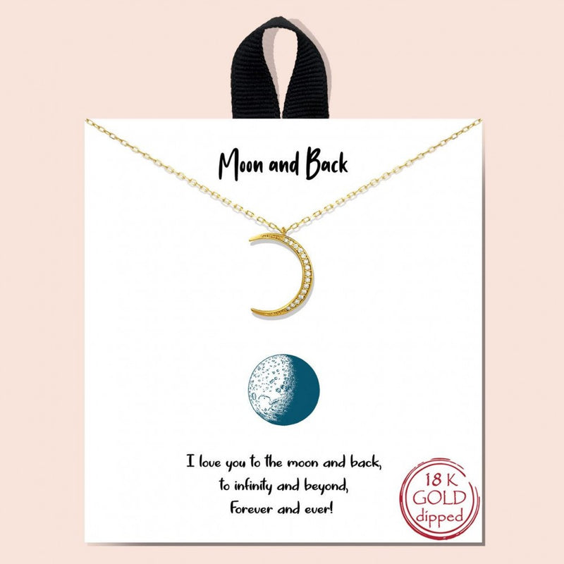 THE MOON & BACK NECKLACE