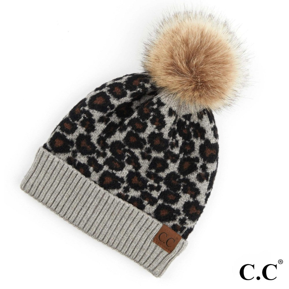 THE LEOPARD POM - GREY