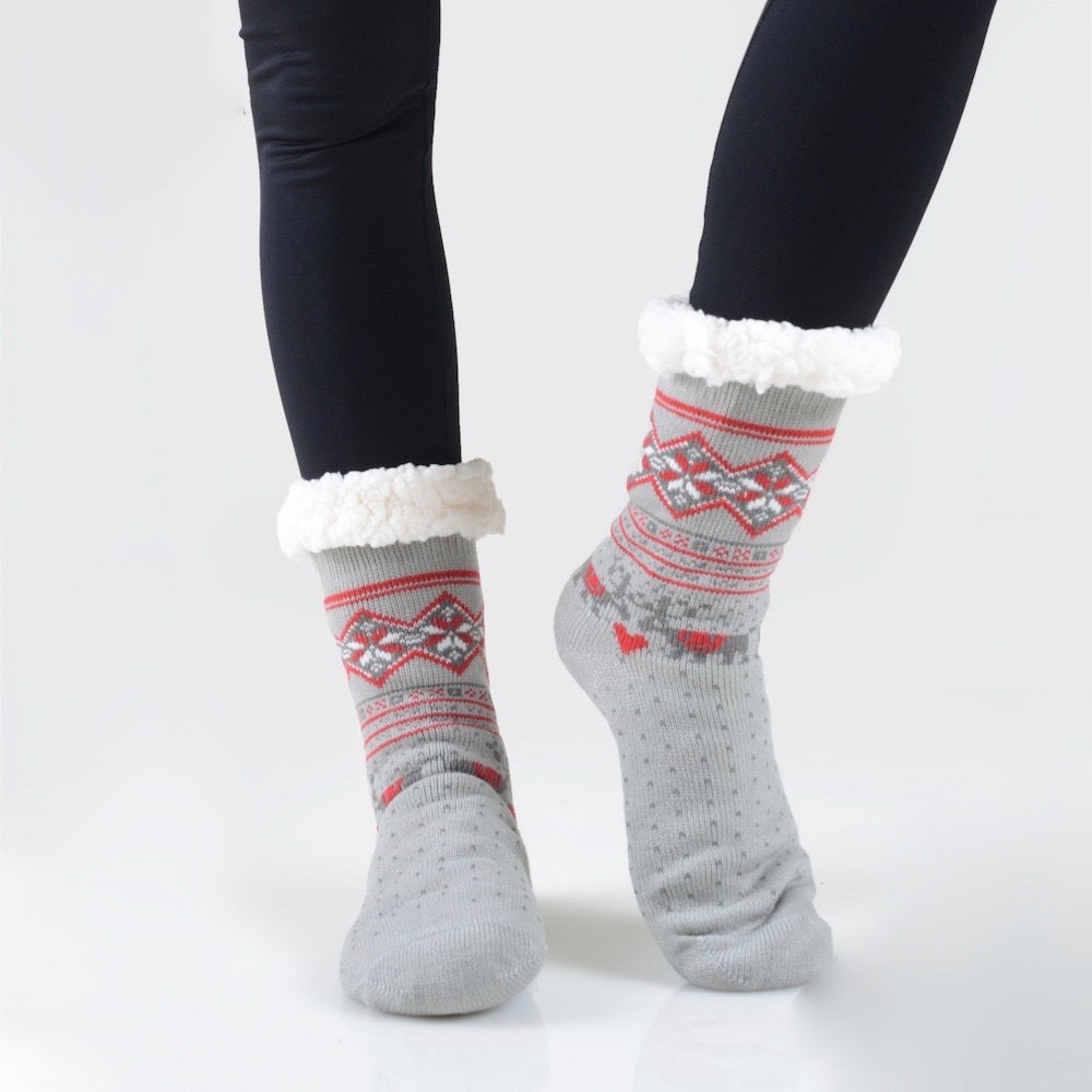 THE COZY TOES - GREY MULTI