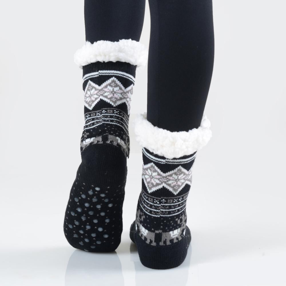 THE COZY TOES - BLACK MULTI