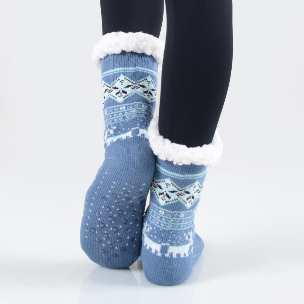 THE COZY TOES - BLUE MULTI