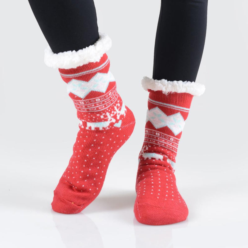 THE COZY TOES - RED MULTI