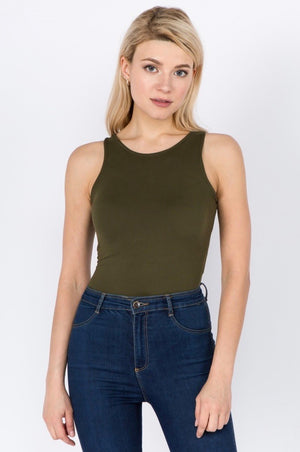THE THATS THE WAY I LIKE IT BODYSUIT- OLIVE