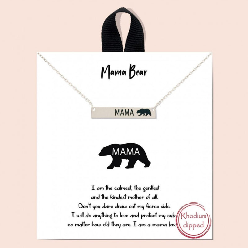 THE MAMA BEAR NECKLACE