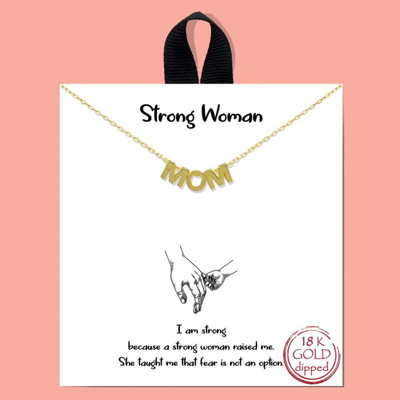 THE MOM NECKLACE (GOLD)