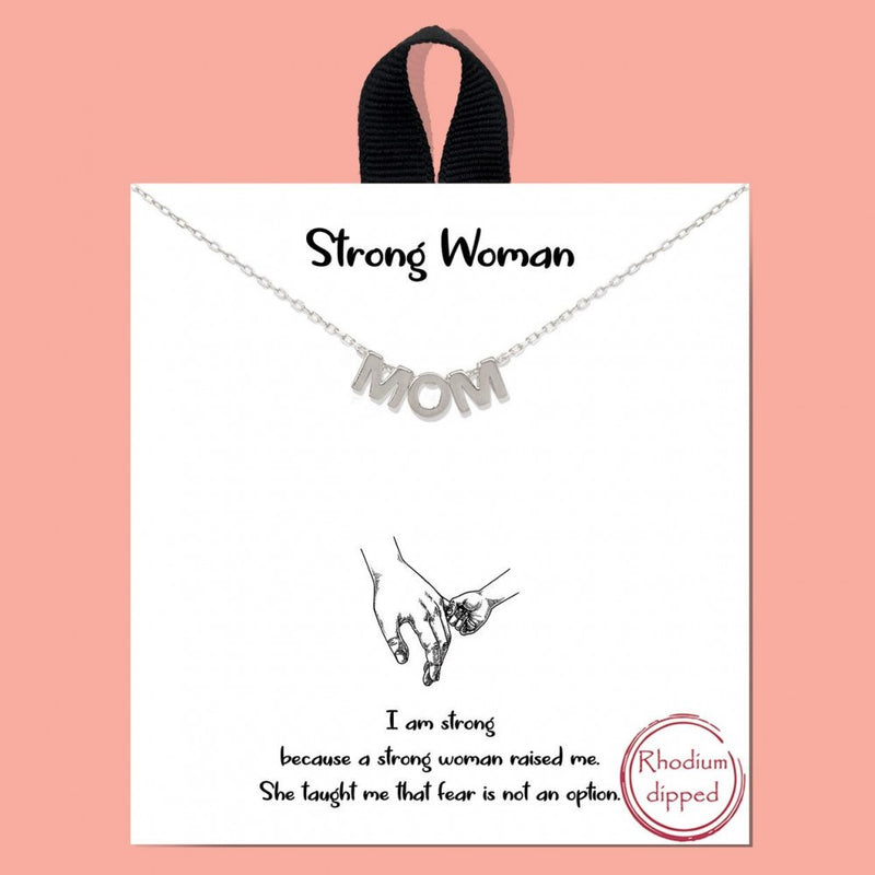 THE MOM NECKLACE (SILVER)