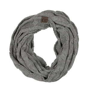 THE SCARF ME UP - LIGHT MELANGE GREY
