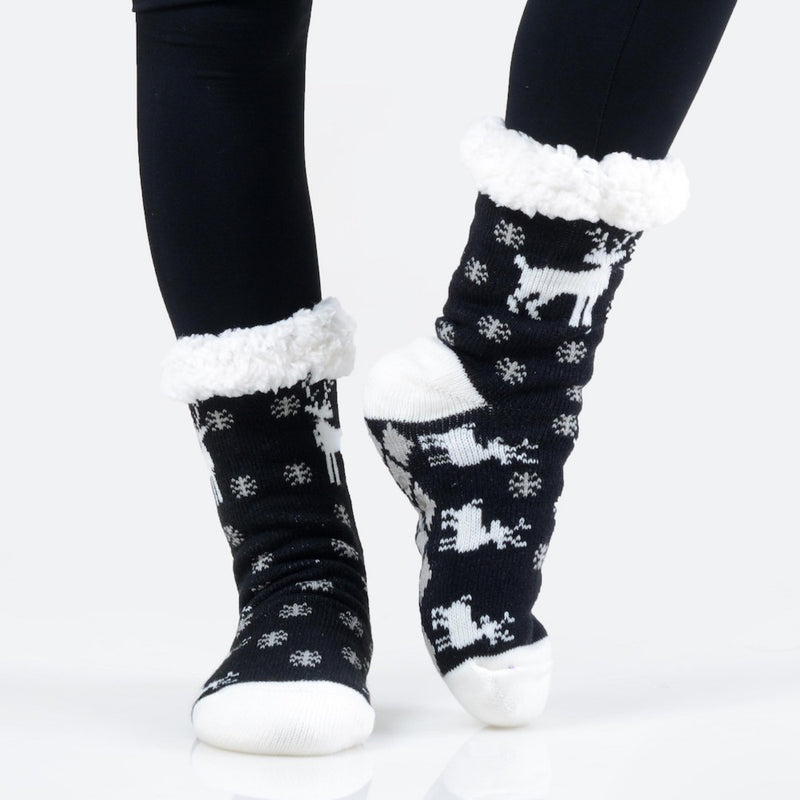 THE TWINKLE TOES - BLACK/WHITE MULTI