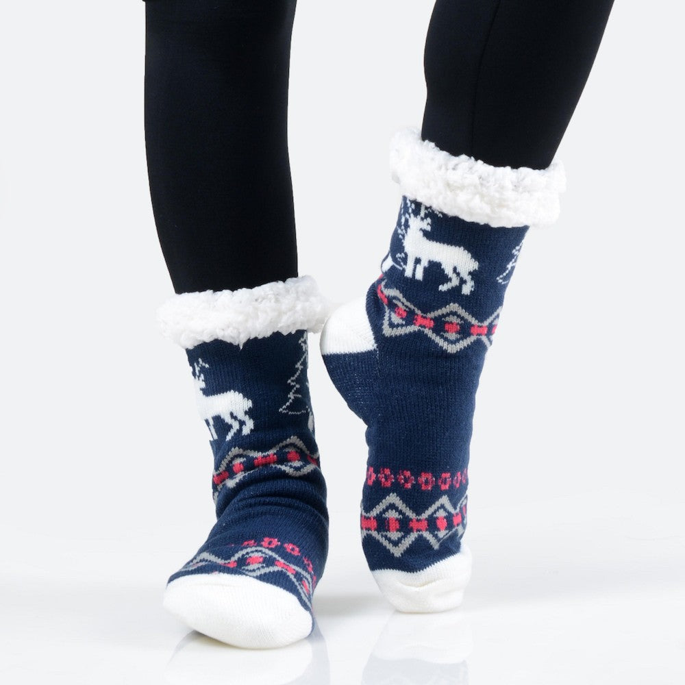 THE TWINKLE TOES - NAVY/RED MULTI