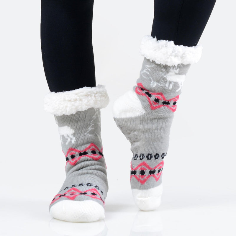 THE TWINKLE TOES - GREY/RED MULTI