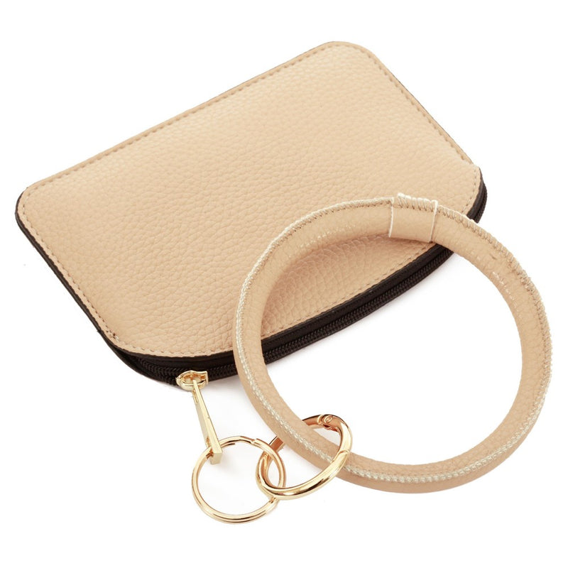THE KEYRING POUCH - BEIGE