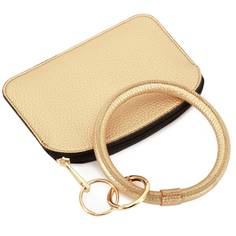 THE KEYRING POUCH - GOLD
