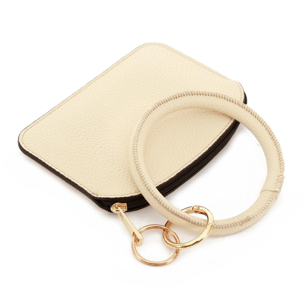 THE KEYRING POUCH - IVORY